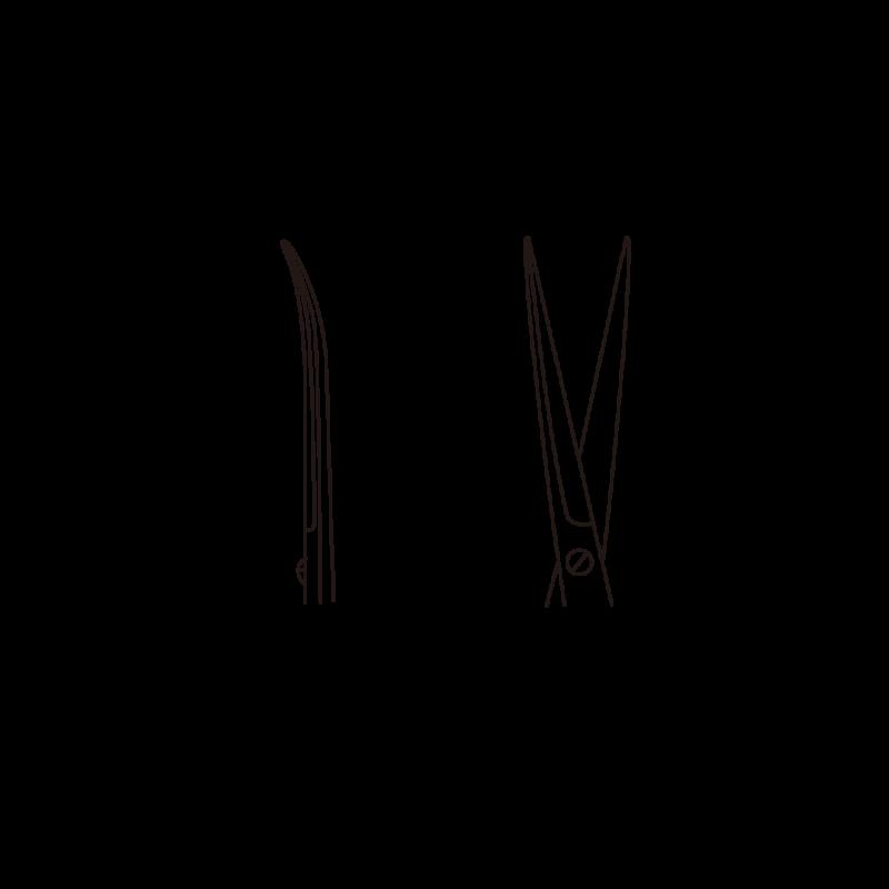 有齿精细组织剪斜面侧面图